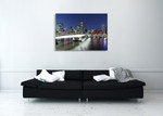 Brisbane City at Twilight Wall Art Print on the wall