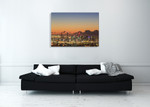 Brisbane City Sunrise Wall Art Print on the wall