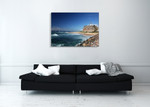 Australia Nobbys Lighthouse Wall Art Print on the wall
