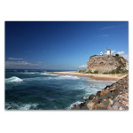 Australia Nobbys Lighthouse Wall Art Print