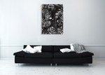 Abstract Calligraphy Ink Wall Art Print on the wall