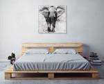 Proud Elephant Wall Art Print on the wall