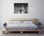 Skyline New York City Wall Art Print on the wall