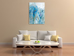 Abstract Lapis Wall Art Print on the wall