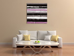 Blinds H Wall Art Print on the wall