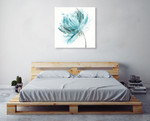 Blue Dance II Wall Art Print on the wall