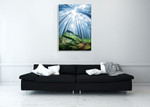 Forest Moss Grass Wall Art Print on the wall