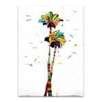 Bright Coconut Palm Wall Art Print