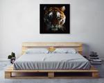 Digital Tiger Wall Art Print on the wall