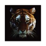 Digital Tiger Wall Art Print