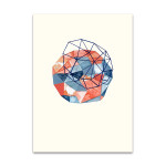 Embroidered Prism Collage I Wall Print