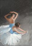Ballerina Dancers II Wall Art Print