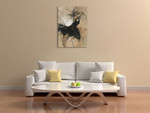 Dancer in Black Wall Art Print on the wall