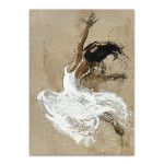 Dancer in White Wall Art Print