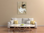 Dancer in White Wall Art Print on the wall
