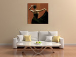 Lady Dancing Samba I Wall Art Print on the wall