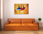 Three Spanish Dancers Wall Art Print on the wall