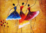 Three Spanish Dancers Wall Art Print