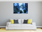 Australia Forest Waterfall Wall Art Print on the wall