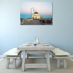 Australia St Kilda Pier Wall Art Print on the wall