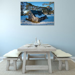 Australia Wallaces Hut Wall Art Print on the wall