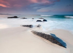 Australian Beach at Twilight Wall Print
