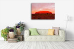 Ayers Rock Uluru Wall Art Print on the wall