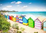 Beach Boxes Australia Wall Art Print