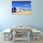 Beach Boxes Melbourne Wall Art Print on the wall