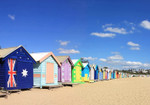 Beach Boxes Melbourne Wall Art Print