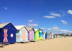 Beach Boxes Melbourne Wall Art Print