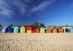 Brighton Beach Huts Wall Art Print