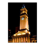 Brisbane City Hall Tower Wall Art Print