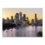 Brisbane City Riverside Wall Art Print