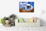 Devils Marbles Australia Wall Art Print on the wall
