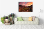 Katoomba Sunset Wall Art Print on the wall