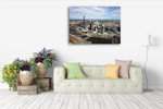 Melbourne Aerial View Wall Art Print on the wall