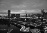 Melbourne at Night Wall Art Print