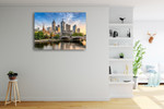 Melbourne Cityscape Wall Art Print on the wall