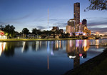 Melbourne Night Time Wall Art Print