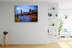 Melbourne Skyline Wall Art Print on the wall