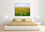 Sunflowers on the wall