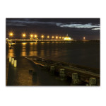St Kilda Pier Night Lights Wall Art Print