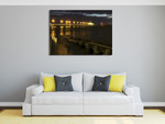 St Kilda Pier Night Lights Wall Art Print on the wall