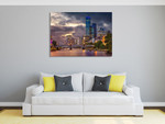 Summer Sunset Melbourne Wall Art Print on the wall