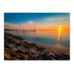 Sunset at Brighton Beach Wall Art Print