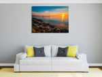 Sunset at Brighton Beach Wall Art Print on the wall