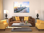 Surfers Paradise Skyline Wall Art Print on the wall