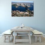 Sydney City Aerial View Wall Print on the wall