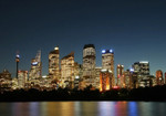 Sydney City at Night Wall Art Print